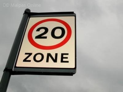 Image: 20 mph zone